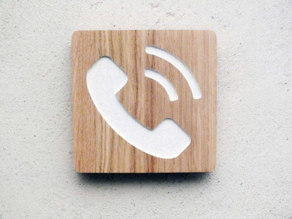 panneau evc pictogramme téléphone gravé