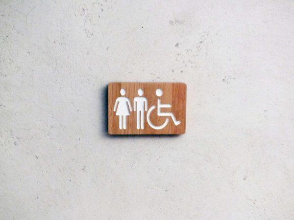 panneau pour toilettes mixtes homme femme handicapé