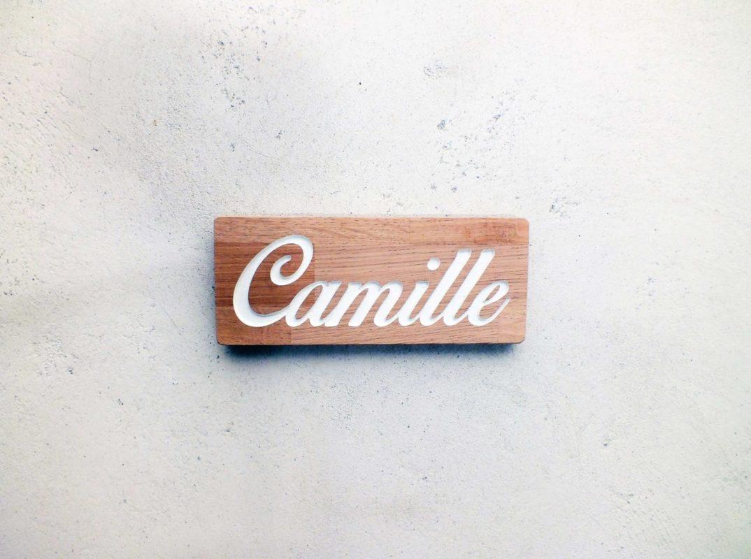 Plaque de porte personnalisable pour chambre d 39 enfant avec pr nom grav - Porte en bois pour chambre ...