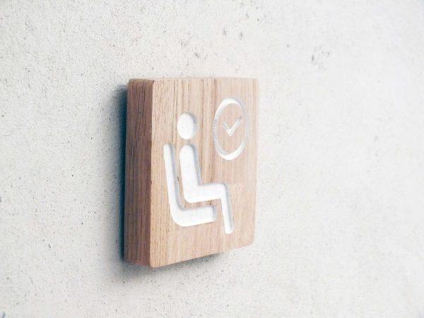 panneau en bois pour salle d'attente