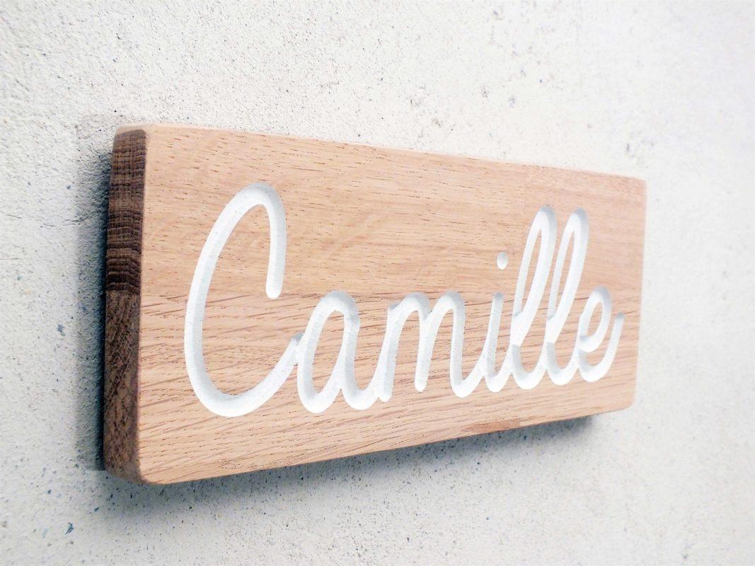 Plaque de porte en bois avec gravure sur mesure - Porte prenom ...