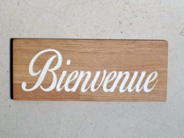 """panneau pour entrée """" bienvenue """" en bois"""