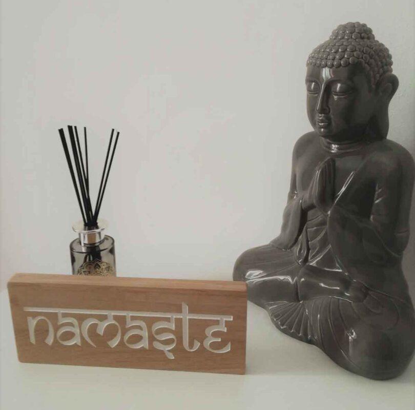 Pancarte en bois Namaste pour décoraion zen