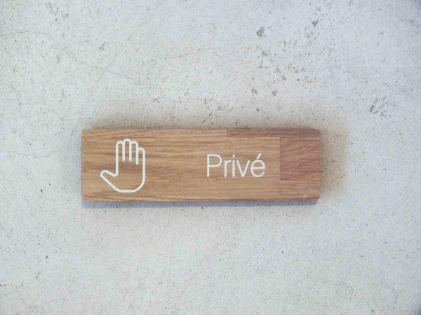 panneau privé pour acces interdit