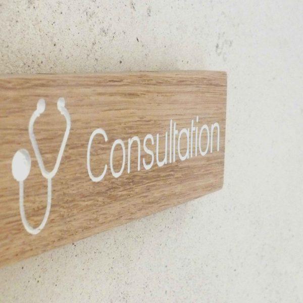 panneau signaletique pour cabinet médical consultation